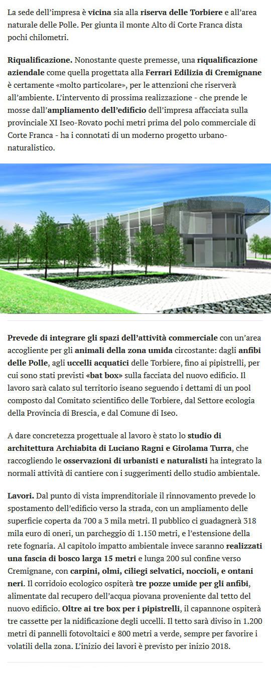 Giornale di Brescia del 31 dicembre 2017